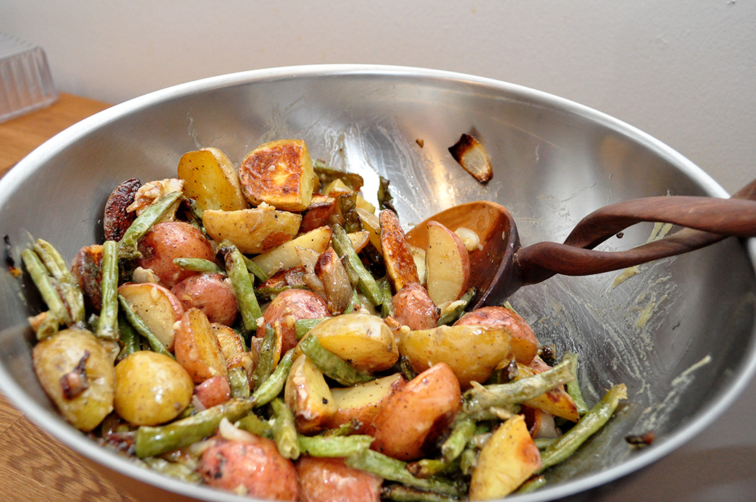 Warm Roasted Potato and Green Bean Salad | Jenna's Everything Blog