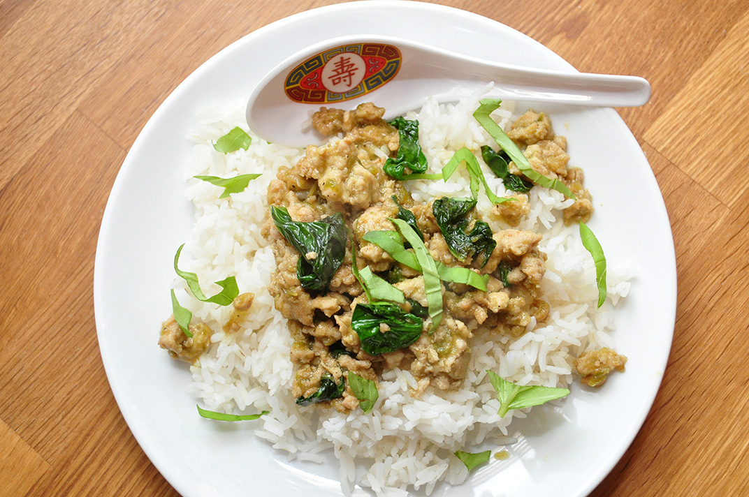 Spicy Chicken with Basil (Gai Pad Krapow) |