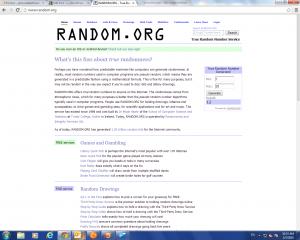 Random.org results